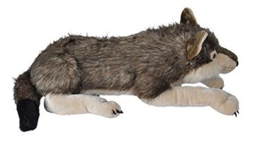 Wild Republic 82332 - Floppies, Wolf, 76 cm - Kuscheltier aus Plüsch - 6